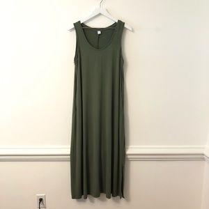 Old Navy Olive Green Stretchy Maxi Tank Dress L